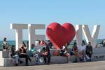 Israelis enjoying their outdoor time as Covid-19 restrictions began gradually lifting in Tel Aviv, Israel last month