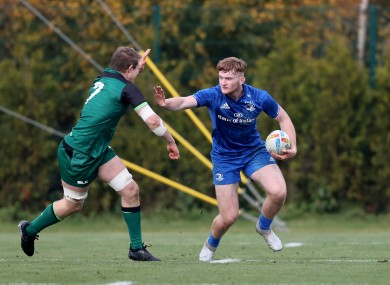 Martin in action for Leinster at the IRFU Academy 7s Tournament last November.