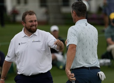 Shane Lowry in action at Augusta National.