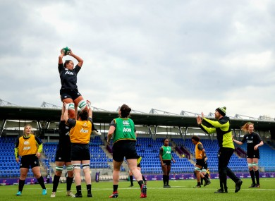 Ireland training at Energia Park during yesterday's Captain's Run.
