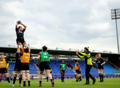Ireland training at Energia Park during yesterday's Captain's Run.