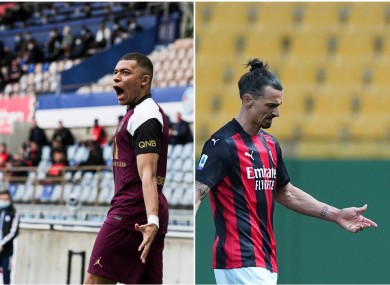 Contrasting fortunes today for Kylian Mbappe and Zlatan Ibrahimovic.