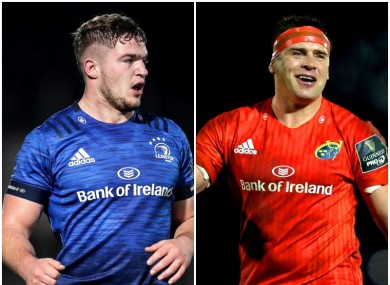 Leinster's Scott Penny and Munster's CJ Stander.