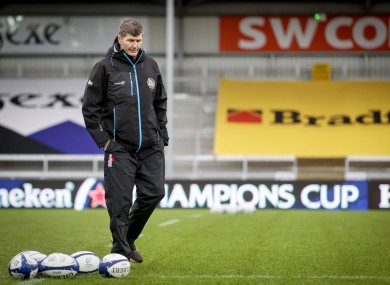 Exeter director of rugby Rob Baxter.