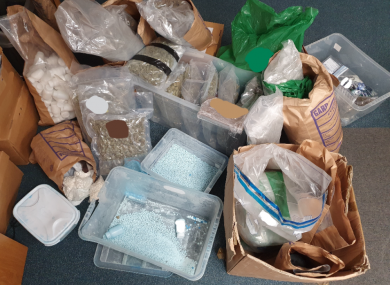 The suspected drugs seized by gardaí in Co Meath
