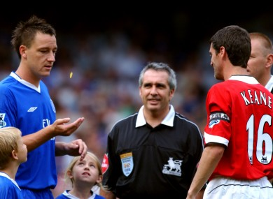 Chelsea captain John Terry and Man United skipper Roy Keane.