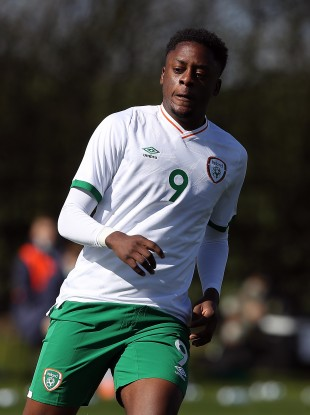 Jonathan Afolabi in action for the Irish U21s last month.