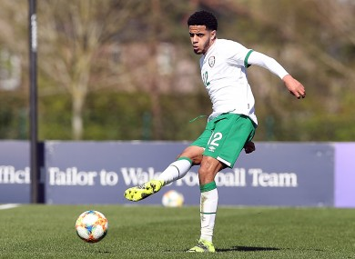 Andrew Omobamidele playing for the Irish U21s last month.