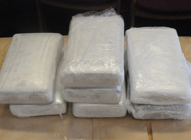 The cocaine seized by gardaí during today's operation