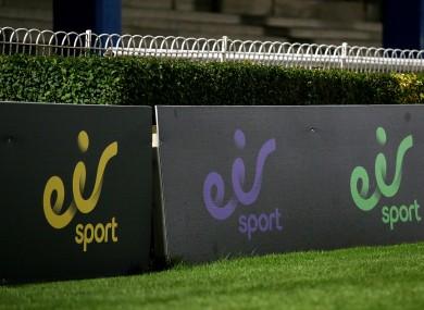 A view of eir Sport branding.