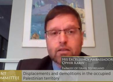 Israeli Ambassador to Ireland Ophir Kariv.