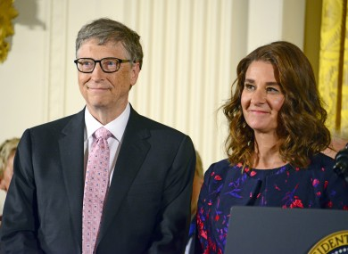 File image of Bill and Melinda Gates in the White House.