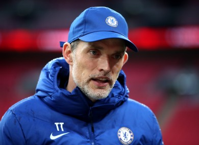 Chelsea manager Thomas Tuchel (file pic).