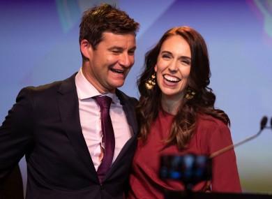 New Zealand's leader Jacinda Ardern and her partner Clarke Gayford