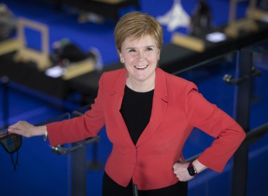 SNP leader Nicola Sturgeon insisted her party had won the Scottish election 'emphatically'