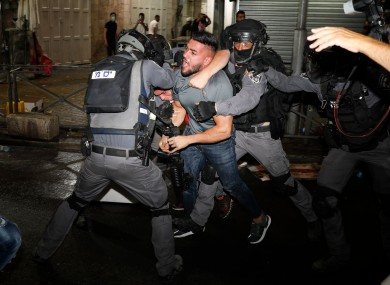 Clashes in east Jerusalem in the holy city's worst religious unrest in several years.
