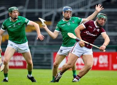 Galway's Fintan Burke in possession against Limerick.