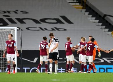 Dejection after Fulham were relegated.
