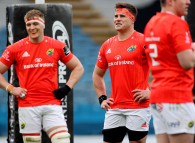 Coombes (l) is ready to replace Stander (r).
