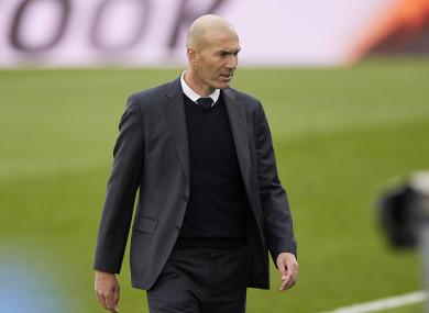 Real Madrid coach Zinedine Zidane (file pic).