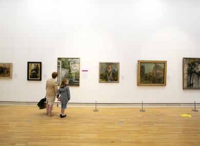 People at the reopening of the National Gallery last summer.