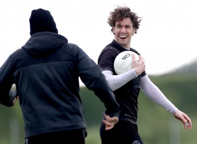 Niall McNamee at a recent Offaly training session (file photo)