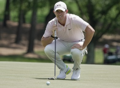 Rory McIlroy in action at the