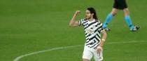 United's goalscoring hero Edinson Cavani.