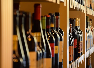 An average bottle of wine can't be sold for less than €7.50 under minimum pricing rules.
