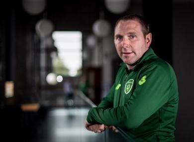 Irish U19s manager Tom Mohan.