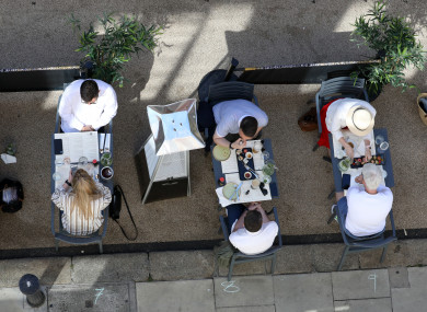 Outdoor dining in Dublin city centre (file photo)