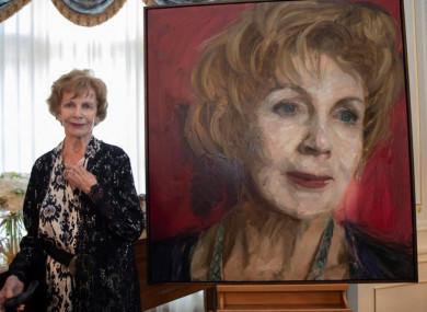 Edna O'Brien with the new portrait