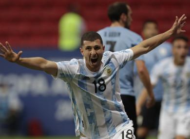Argentina's Guido Rodriguez.