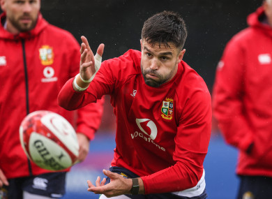 Murray training with the Lions this week.