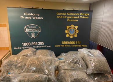 The drugs seized by Revenue and gardaí