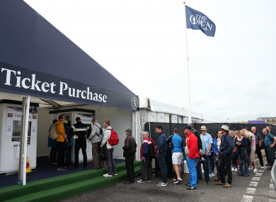 The Open will admit up to 32,000 spectators each competition day.