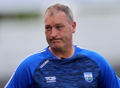 Waterford manager Liam Cahill.