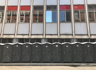 Toilets on Dame Court.