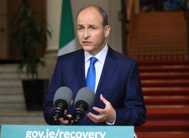 Taoiseach Micheál Martin (file photo)