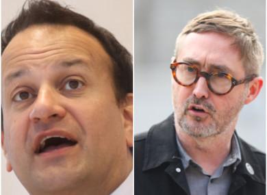 Leo Varadkar (L) and Eoin Ó Broin (R).