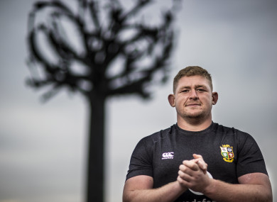 Tadhg Furlong pictured in Jersey last week.