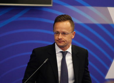 Peter Szijjarto, Minister of Foreign Affairs and Trade of Hungary.