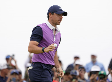 Rory McIlroy in action at Torrey Pines.