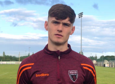 Darragh O'Connor during his Wexford FC days.