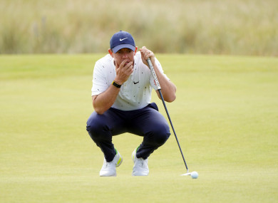 Rory McIlroy during day one of the Scottish Open.