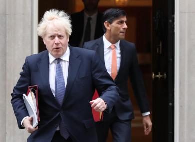 UK Prime Minister Boris Johnson and Chancellor Rishi Sunak
