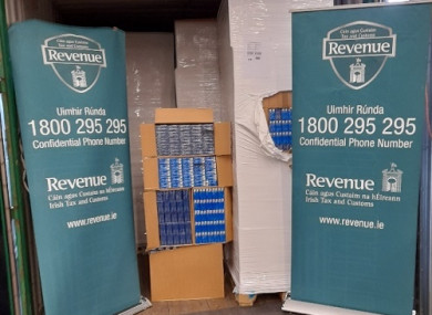 The goods seized by Revenue