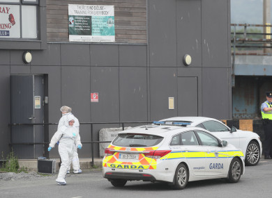 A forensic team at Bray Boxing Club after the shooting