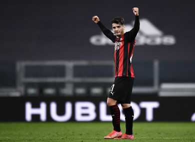 Brahim Diaz in action for AC Milan earlier this year.