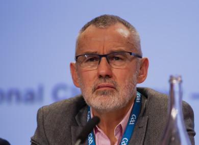 File photo of GAA president Larry McCarthy.